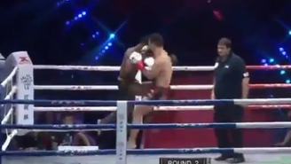 A Flying Superman Elbow Created A Spectacular Mid-Air TKO