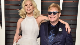 Lady Gaga And Stevie Wonder Performed A Rousing Rendition Of 'Happy Birthday' For Elton John