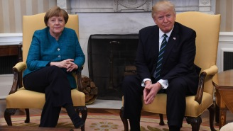 Did Trump Refuse To Shake German Chancellor Angela Merkel's Hand? (Yeah, Probably)