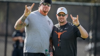 The Undertaker Gave The Texas Longhorns A Pep Talk From The Dark Side