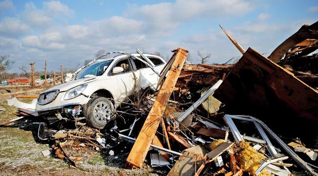 Tornado Damage In Perryville, Missouri On March 1, 2017