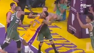 Nick Young Ignited A Scrap Between The Lakers And Bucks After A Hard Foul