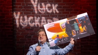 Patton Oswalt Brings Mike Huckabee's Horrid Twitter Jokes To The Stand-Up Stage On 'Kimmel'