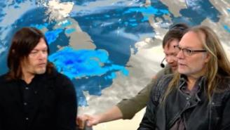 Let's All Enjoy Norman Reedus Being Dragged Out Of A Live Weather Report