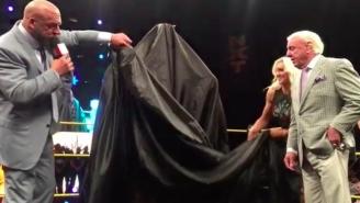 Watch WWE Unveil A Ric Flair Statue At WrestleMania Axxess