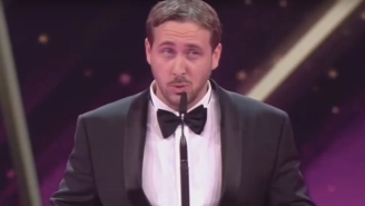 A Ryan Gosling Impersonator Crashed A German Awards Show To Accept A Trophy For 'La La Land'