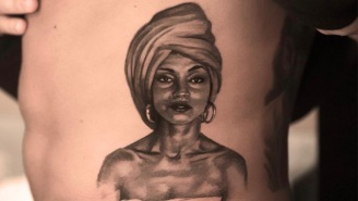 Drake Took His Sade Love To The Next Level By Getting Her Portrait Tattooed