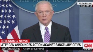 Attorney General Jeff Sessions Echoes A Trump Threat To Strip Sanctuary Cities Of Justice Department Grants