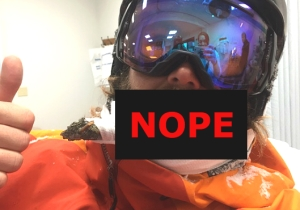 This Snowboarder Got Impaled Through The Face By A Branch And Seemed Very Chill About It