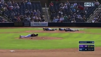 A Swarm Of Bees Invaded A Spring Training Game And Oh My God They're Everywhere