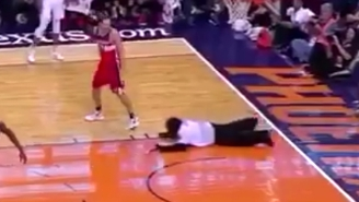 The Suns' Gorilla Mascot Nearly Interrupted A Game By Sliding Head-First Onto The Court