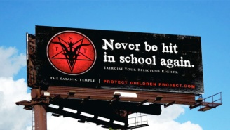 The Satanic Temple's Latest Billboard Campaign Goes To Bat Against Corporal Punishment In Schools