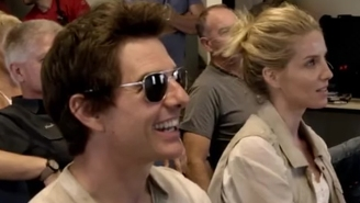 Few People Will Ever Be As Happy As Tom Cruise Going Zero-G For A Stunt In 'The Mummy' Happy