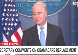 Health Secretary Tom Price Actually Used Stacks Of Paper To Compare Trumpcare And Obamacare
