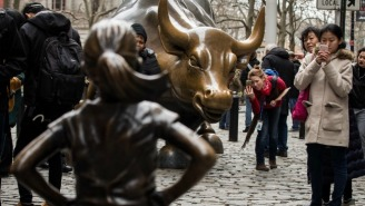 There's Now A Statue Of A Girl Staring Down The Iconic Bull On Wall Street