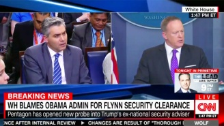 Sean Spicer Gets Testy With CNN's Jim Acosta And Blames Obama For Trump's Michael Flynn Disaster