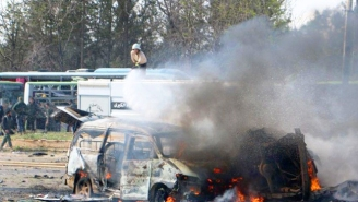 A Car Bomb Struck A Bus Convoy In Syria, Killing And Injuring Dozens