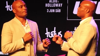 Anderson Silva Faced Off With Himself In A Bizarre Bit Of Opponent-Less UFC Promotion