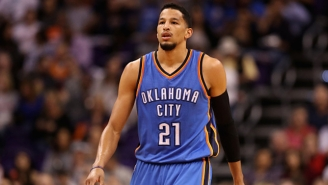 Andre Roberson's Free Throw Shooting Got Trolled Mercilessly By The Rockets Bench In Game 4
