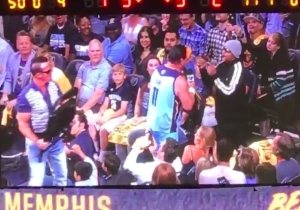 Jerry Lawler And Buff Bagwell Had A Grizzlies Game 6 Fight That Involved Chairs, Tables, And A Bear