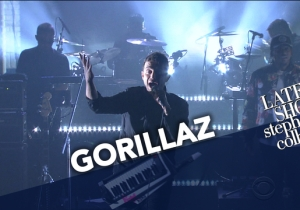 "Gorillaz Brought Out Pusha T For Their Trippy Performance Of ""Let Me Out' On 'Colbert'"