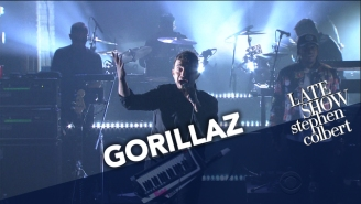 """Gorillaz Brought Out Pusha T For Their Trippy Performance Of """"Let Me Out' On 'Colbert'"""