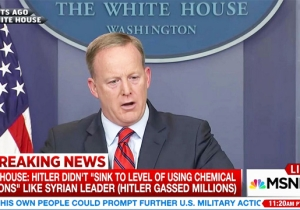 Yes, Sean Spicer Really Claimed That Hitler Didn't 'Sink To Using Chemical Weapons' And Referred To Concentration Camps As 'Holocaust Centers'