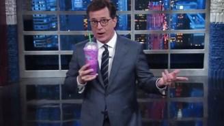 Stephen Colbert Taste-Tested Starbucks' 'Sugary Affront To God,' The Unicorn Frappuccino