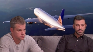 Jimmy Kimmel Has Now Tied The United Fiasco To His Feud With Matt Damon