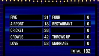 This Might Be The Worst 'Family Feud' Fast Money Performance Of All Time