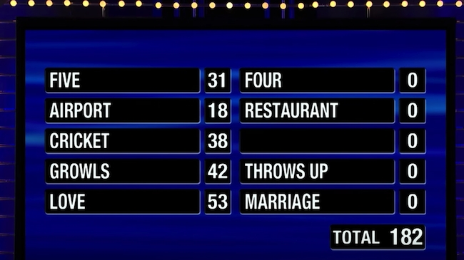 This Might Be The Worst Family Feud Fast Money Performance