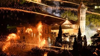 This Greek Island Celebrated Easter The Correct Way…. With Tons Of Explosives