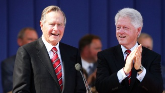 Bill Clinton And George H.W. Bush Enjoyed A Glorious, Sock-Filled Reunion In Texas