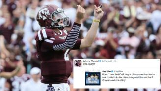 Johnny Manziel Criticized The NCAA Moments After North Carolina Won It All