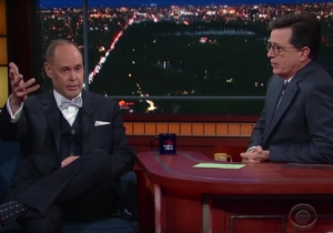 Ernie Johnson Broke Out His Shaq Impression On 'The Late Show With Stephen Colbert'