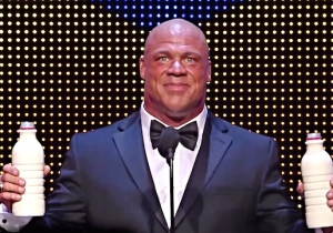 Kurt Angle Enters The WWE Hall of Fame With A Song In His Heart And Milk All Over