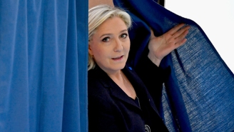 Far-Right French Presidential Candidate Marine Le Pen Wins A Vote To Move Ahead To A Runoff Election