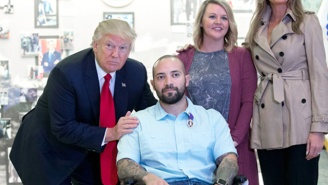 President Trump Awards A Purple Heart To An Injured Soldier While Offering 'Congratulations'