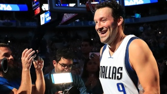 Tony Romo Got Introduced As A 'Starter' During The Mavericks' Home Finale