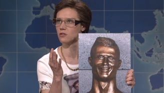 Kate McKinnon Brought Cecilia Gimenez Back To 'SNL' To Defend That Infamous Cristiano Ronaldo Bust