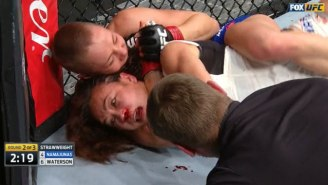 Watch Rose Namajunas Choke The Blood Out Of Michelle Waterson At UFC On FOX 24
