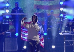 Joey Badass Slams The Prison Industrial Complex In His 'Colbert' Performance Of 'Land Of The Free