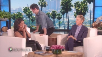 Ellen Degeneres Enlisted Simone Biles' 'DWTS' Partner To Hilariously Prank The Gymnast