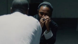 Don Cheadle Interrogates Kendrick Lamar In The Video For 'DNA'