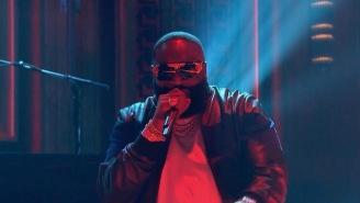 Watch Rick Ross Perform 'Trap Trap Trap' On 'Fallon' With Young Thug And Wale