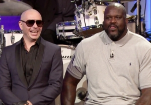 Watch Shaq Get A Little Help From Pitbull To Outclass Jimmy Fallon In A Lip Sync Battle