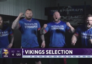The Vikings Had The Mountain From 'Game Of Thrones' Help Introduce A Draft Pick