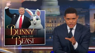 'The Daily Show' Soaks Up Every Awkward Moment From Trump's First White House Easter Egg Roll