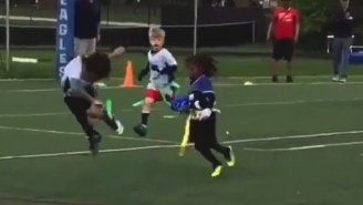 T.Y. Hilton's 4-Year-Old Son Juked Some Kids Out Of Their Shoes In A Flag Football Game