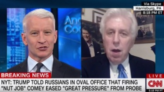 Watch Anderson Cooper Tell Jeffrey Lord He Would Defend Trump For Taking A 'Dump' In An Odd Spot